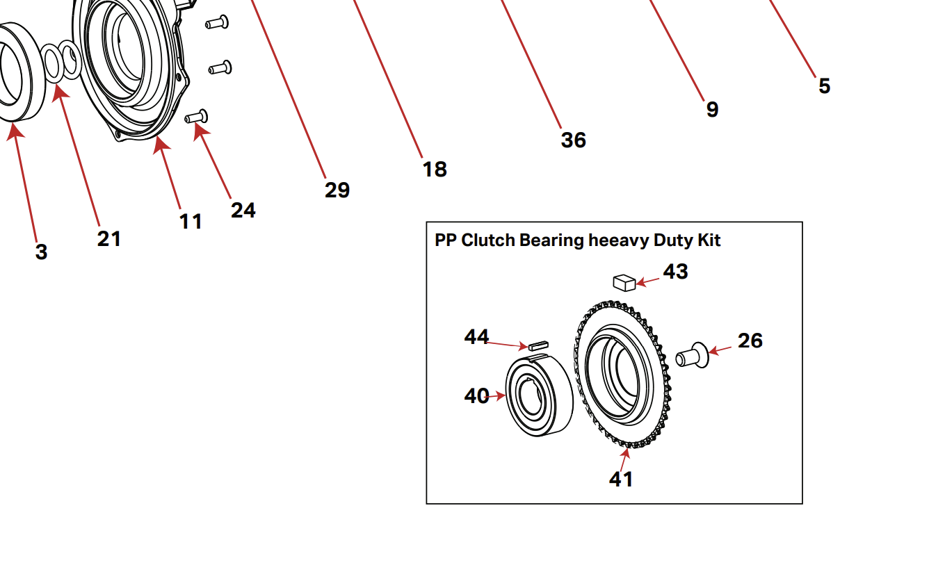 Rocky Mountain POWERPLAY REPLACEMENT KIT CLUTCH BEARING